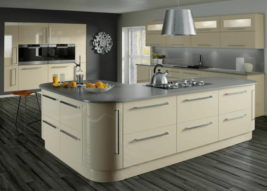 High gloss kitchens mastercraft kitchens for Black high gloss kitchen ideas