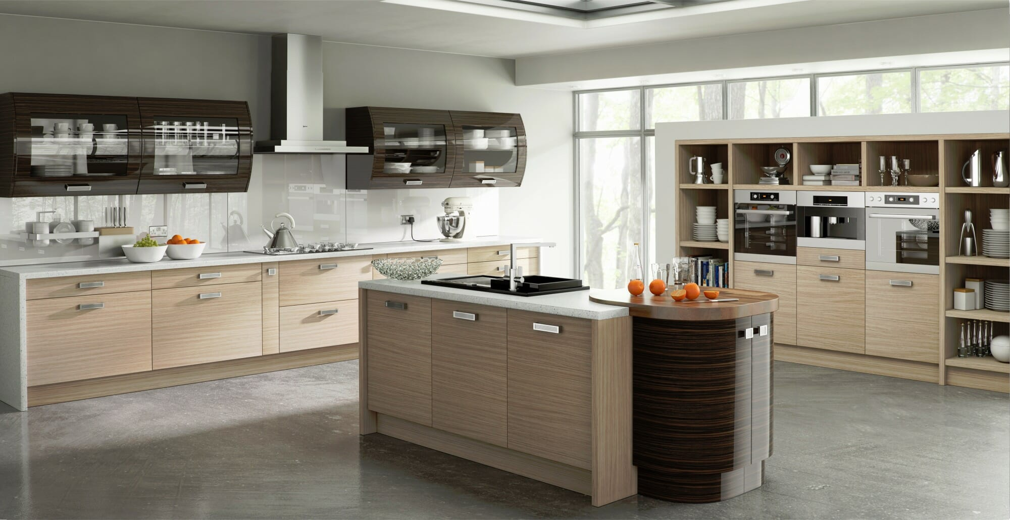 Duleek troscan oak ebony mastercraft kitchens for Laci kitchen set