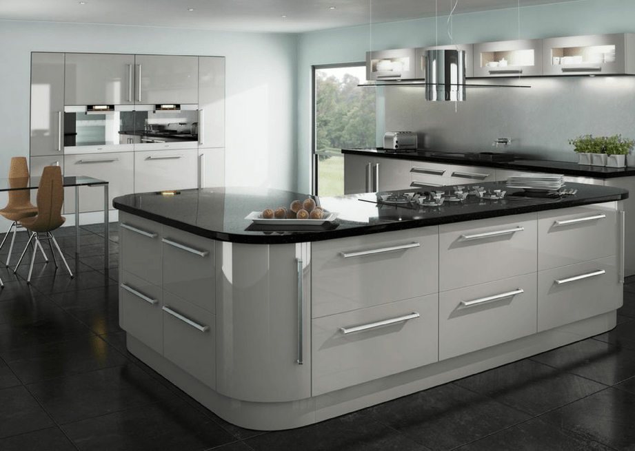 High gloss kitchens mastercraft kitchens for Gloss grey kitchen cabinets