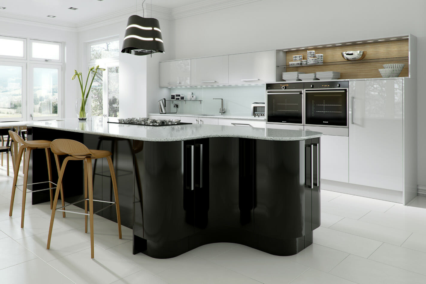Haddington Black Gloss Mastercraft Kitchens