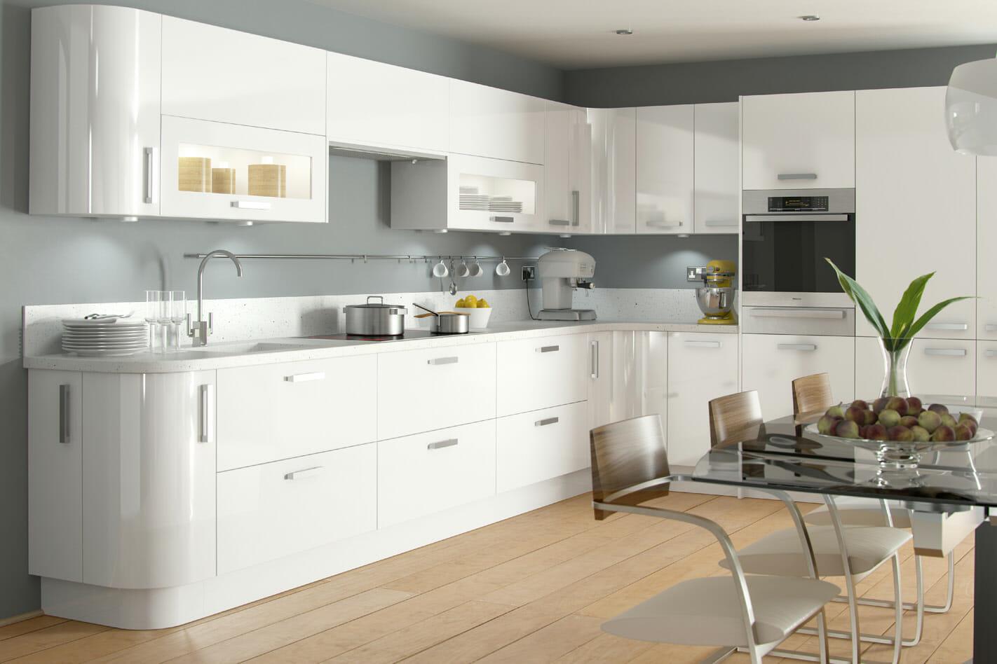 High gloss kitchens mastercraft kitchens - White Kitchens Modern White Gloss Kitchen Cupboards