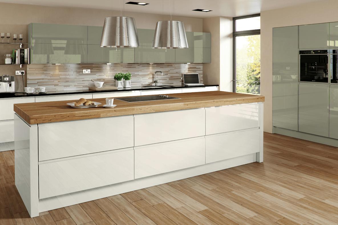Welford cream gloss mastercraft kitchens for Kitchen ideas cream