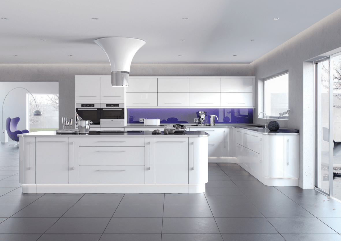High gloss kitchens mastercraft kitchens for High gloss kitchen cabinets
