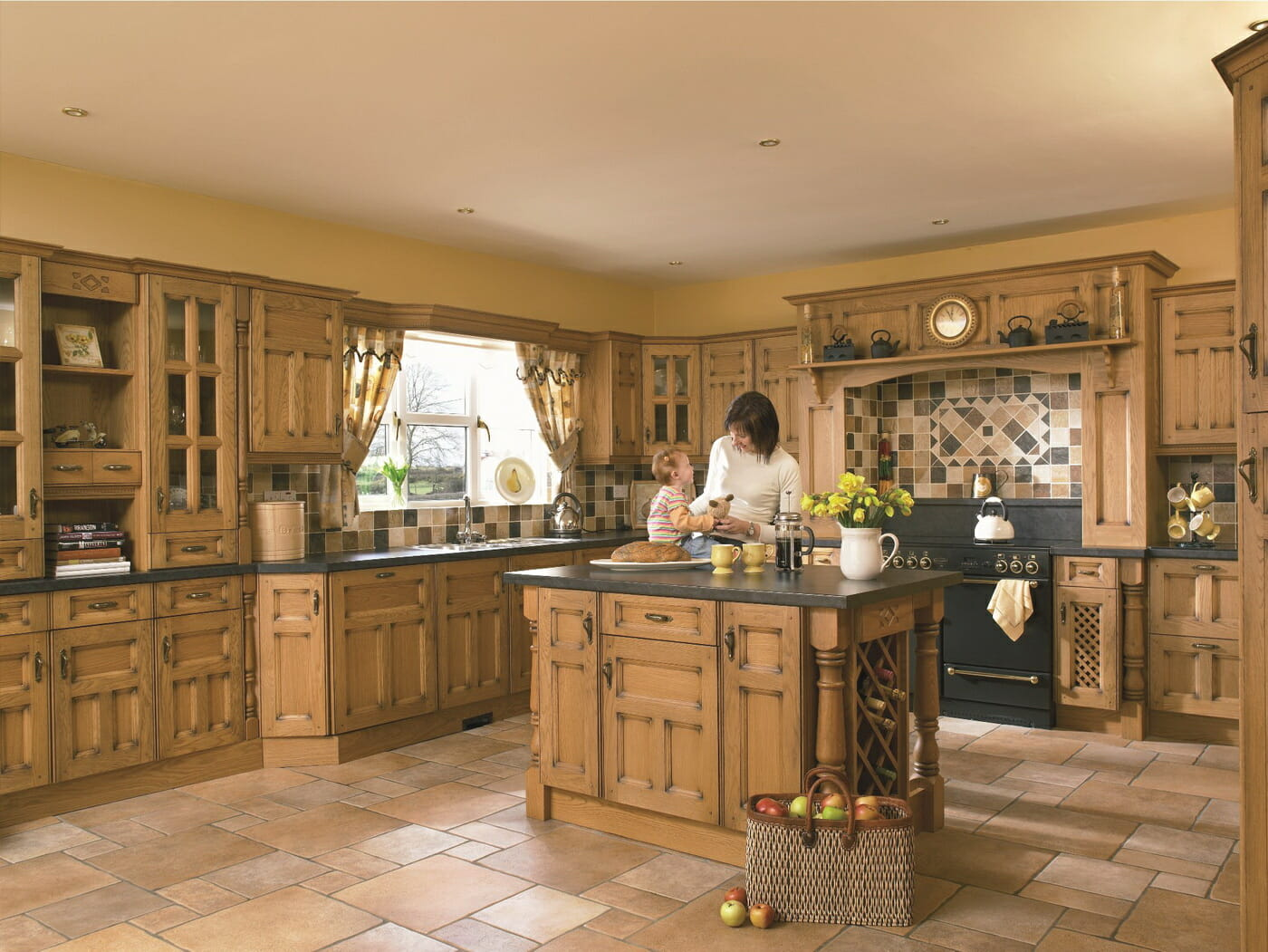 Princeton Solid Oak Mastercraft Kitchens. Full resolution‎  image, nominally Width 1400 Height 1051 pixels, image with #A1952A.