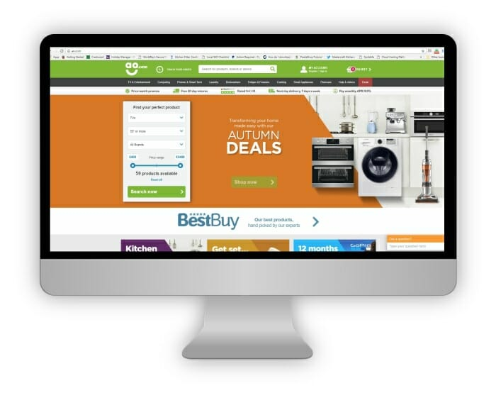 We price match online appliances prices