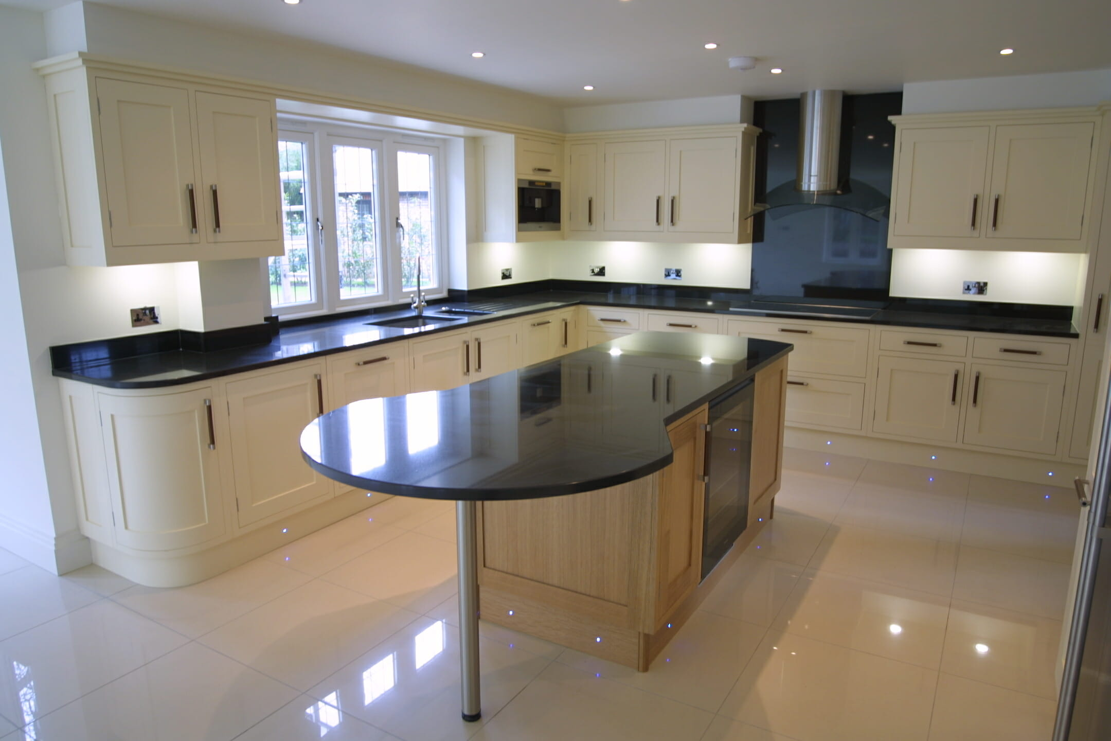 Granite worktops mastercraft kitchens for Black granite kitchen designs