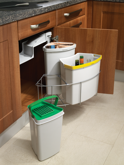 Garbage bin dimensions crafts for Kitchen cabinets 500mm wide