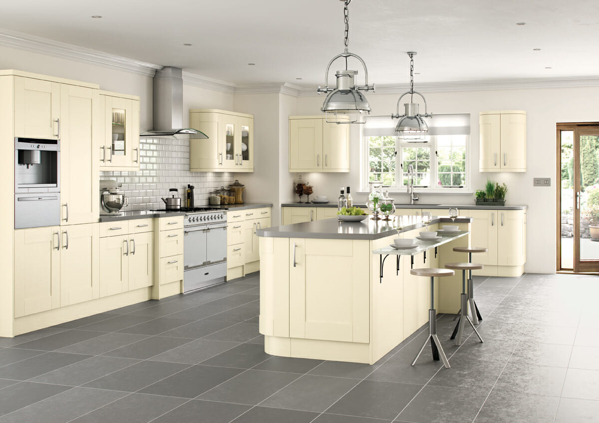Cartmel ivory painted mastercraft kitchens for Kitchenette cabinets