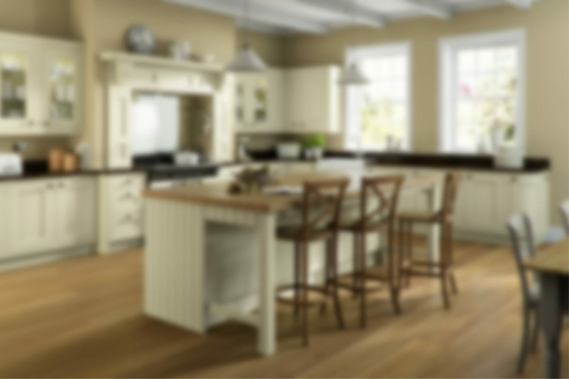 Fitted Kitchen Background Blur