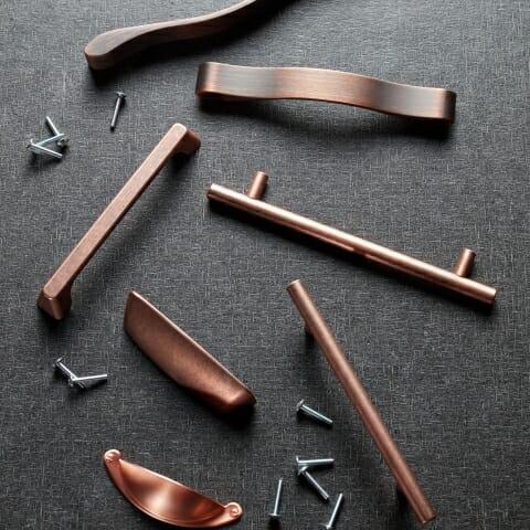 warm metallics handle collection