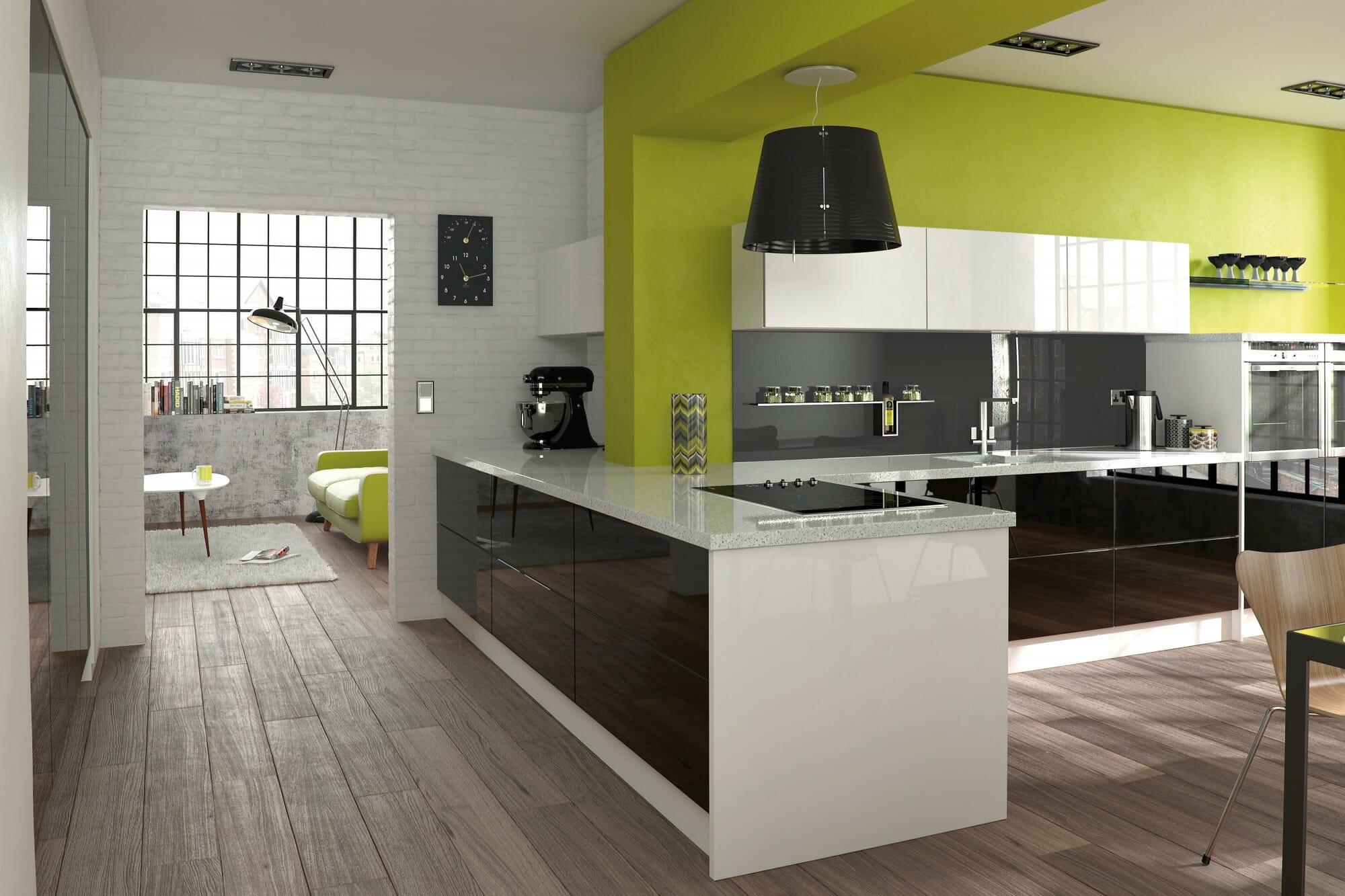 Glacier Black & White Kitchen