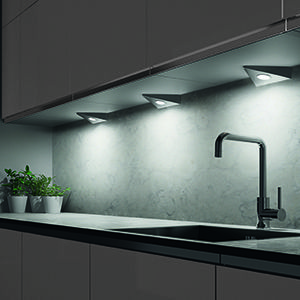 under cabinet spot lighting
