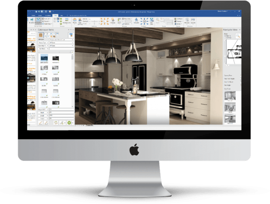 designing a kitchen on a computer