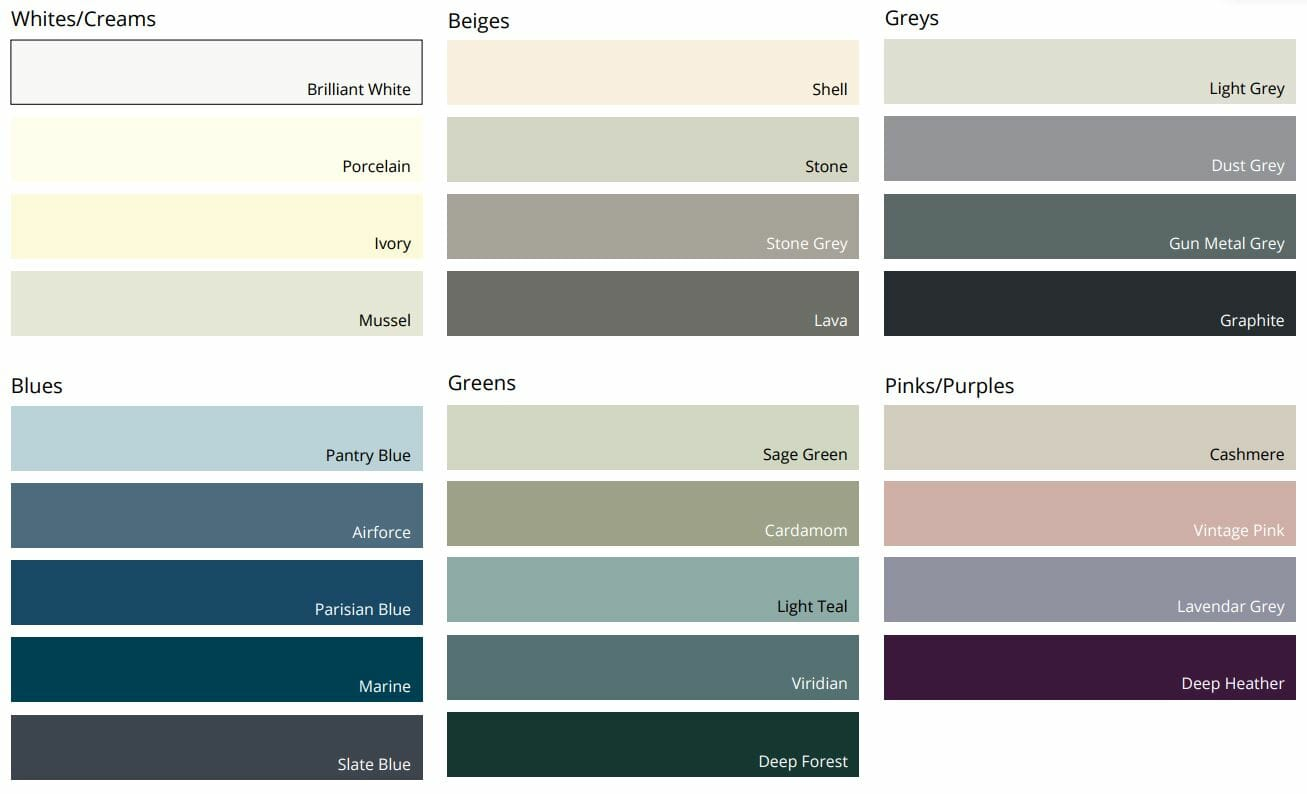 Paint to order colours